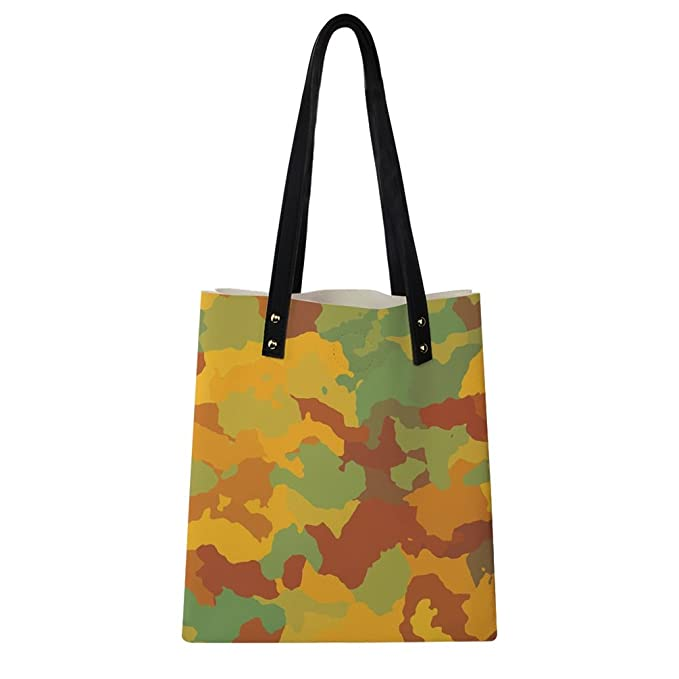 f61bbf27b790 Image Unavailable. Image not available for. Color  Personalized Camo  Printed Casual Soft Leather Handbags with Wallet for Girls
