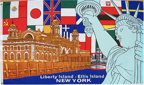 Statue of Liberty Flag - 3 foot by 5 foot Polyester (NEW)
