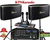 IDOLpro 1400Watts Professional Karaoke Mixing Amplifier With Bluetooth/Equalizer/HDMI Plus Speaker & Dual Rechargeable Wireless Microphone Karaoke System