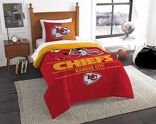 The Northwest Company NFL Kansas City Chiefs Twin Comforter and Sham, One Size, Multicolor (Bedding Chiefs City Kansas)