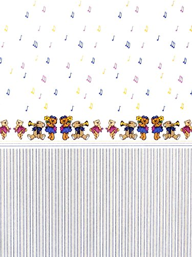 Melody Jane Dollhouse Musical Teddy Bears Miniature Print 1:12 Scale Nursery Wallpaper from Melody