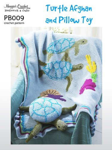 Crochet Pattern Turtle Afghan Pillow Pb009 R Kindle Edition By