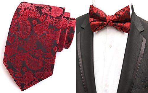 MOHSLEE Men Spring Wedding Suit Necktie Bow Tie Metal Tie Clip Pocket Square Set