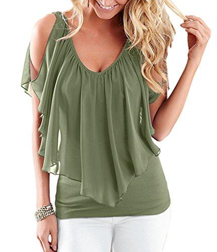 D Bigood Uni Couleur T Femme shirt ZXqXf7p