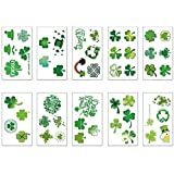 GOMING St Patrick's Day Temporary Tattoos Stickers Irish Shamrock Patterned Tattoos Clover Four-Leaf Clover Removable tattoo