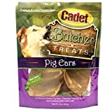 Cadet Butcher Treats Pig Ears for Dogs; 5 oz. 6 pk.