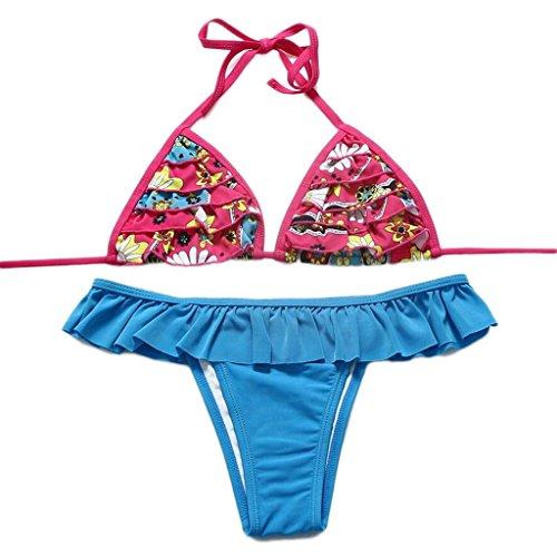 Traje de baño de moda laminado de encaje Split bikini Spa traje de baño playa de baño K