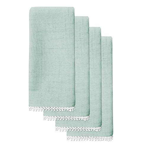 Lenox French Perle Solid Set of 4 Napkins, Ice ()
