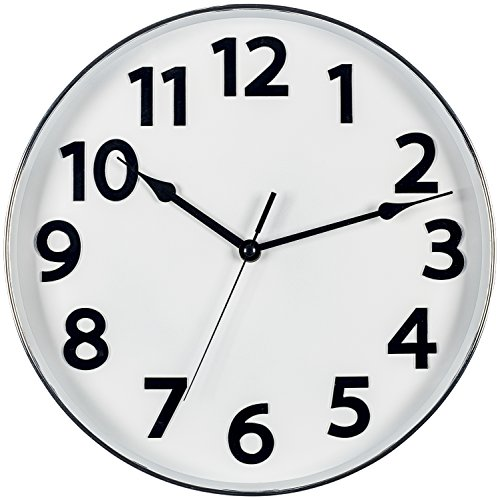 Bernhard Products Large White And Black Wall Clock 12