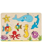 Goki 57953 - Steckpuzzle - Unterwasserwelt