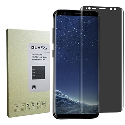 for Galaxy S8 Plus Screen Protector Privacy Anti-Spy,[Case-Friendly] Privacy Anti-Peep Tempered Glass Screen Protector Shield for Samsung Galaxy S8 Plus (Anti Privacy)(Black)