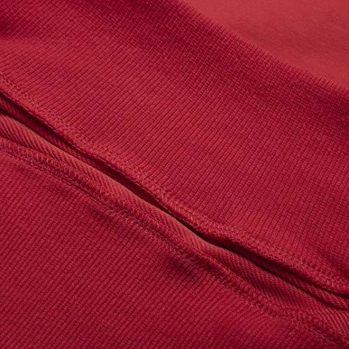 Lache Lanterne Manche Capuche Longue Chic Sweat Mince Femmes SANFAHSION Blouse Shirt Rouge Haut Hoodie Mode fEzqATzvWw