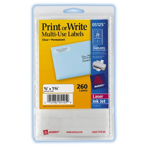 Write Multi Use Permanent Labels AVE05125