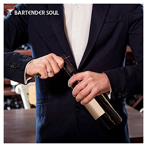 Professional Corkscrew (Pakka Wood), Double Lever with Damping, Excellent Wine Opener, Choice of Sommeliers and Waiters, Capsules Cutter, Strong 420 Grade Stainless Steel for Beer Bottles by Bartender Soul (Image #5)