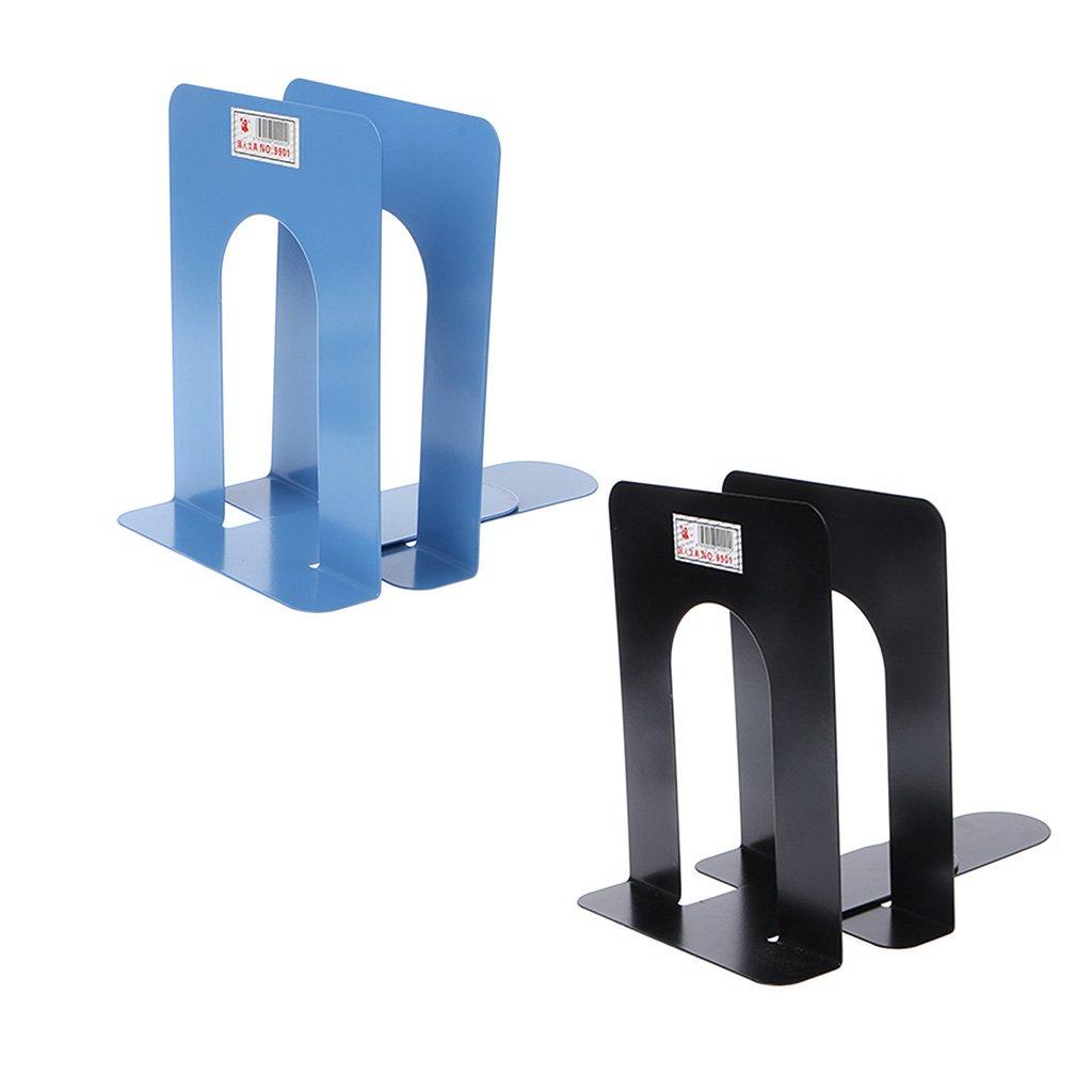 Fermalibri in ferro resistente stile semplice supporto per libri Blue Yuaierchen