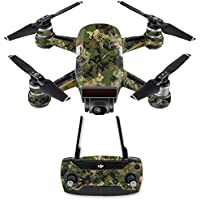 Skin for DJI Spark Mini Drone Combo - Viper Woodland| MightySkins Protective, Durable, and Unique Vinyl Decal wrap cover | Easy To Apply, Remove, and Change Styles | Made in the USA