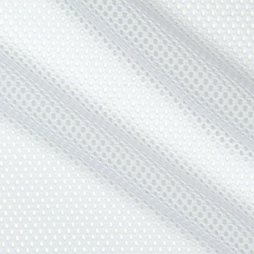 TELIO Mod Stretch Mesh White Fabric by The Yard