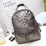 JD Million shop Women Backpacks Rivet Black Soft Washed Leather...