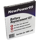 TomTom GO LIVE 1005 Battery Replacement Kit with Installation Video, Tools, and Extended Life Battery.
