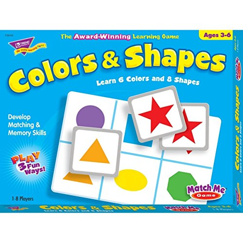 Trend T58103 Trend Colors and Shapes Match Me Game, Ages (Lotto Memory Game)