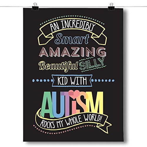 Inspired Posters An Incredible Kid - Autism Awareness Poster Size 8x10