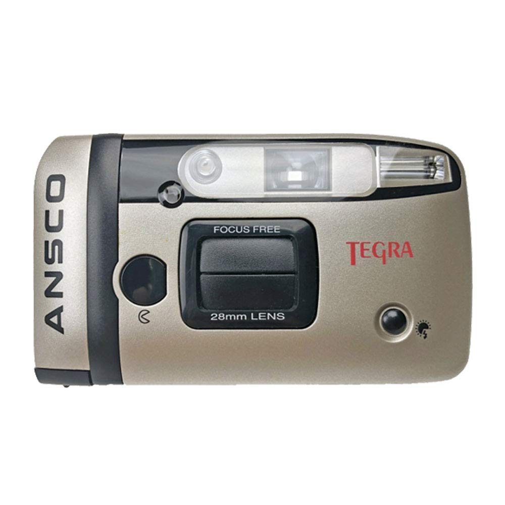 Ansco 35mm Film Camera Compact Point & Shoot Flash Panorama Focus Free Vintage (Gold) by Ansco