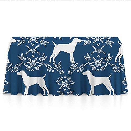 KYWYN Premium Table Cloth - German Shorthair Pointer Dog - Table Overlay/Cover Tapestries for Brunches,Dinners,Buffet Table,Birthday,Picnic,X-mas,Holiday, Year Decoration(52
