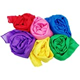 "Play Scarves for Creative Play; 35"" Square Bundle of 6 by Simply Sweet Fabric"