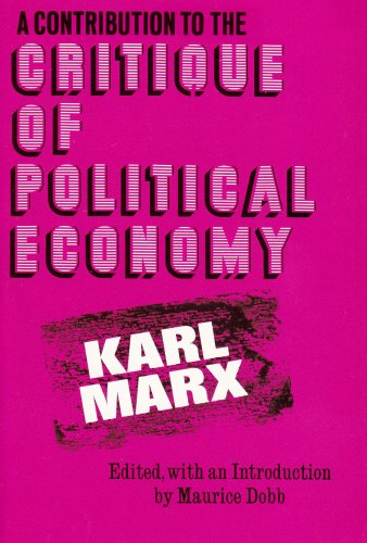 Contribution to the Critique of Political Economy