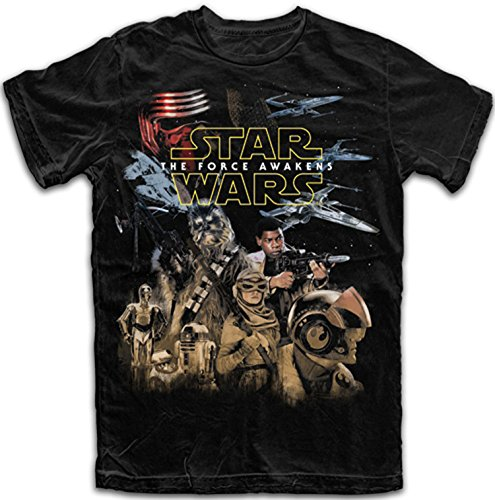 Star Wars Mens' The Force Awakens Resistance T Shirt (X-Large)