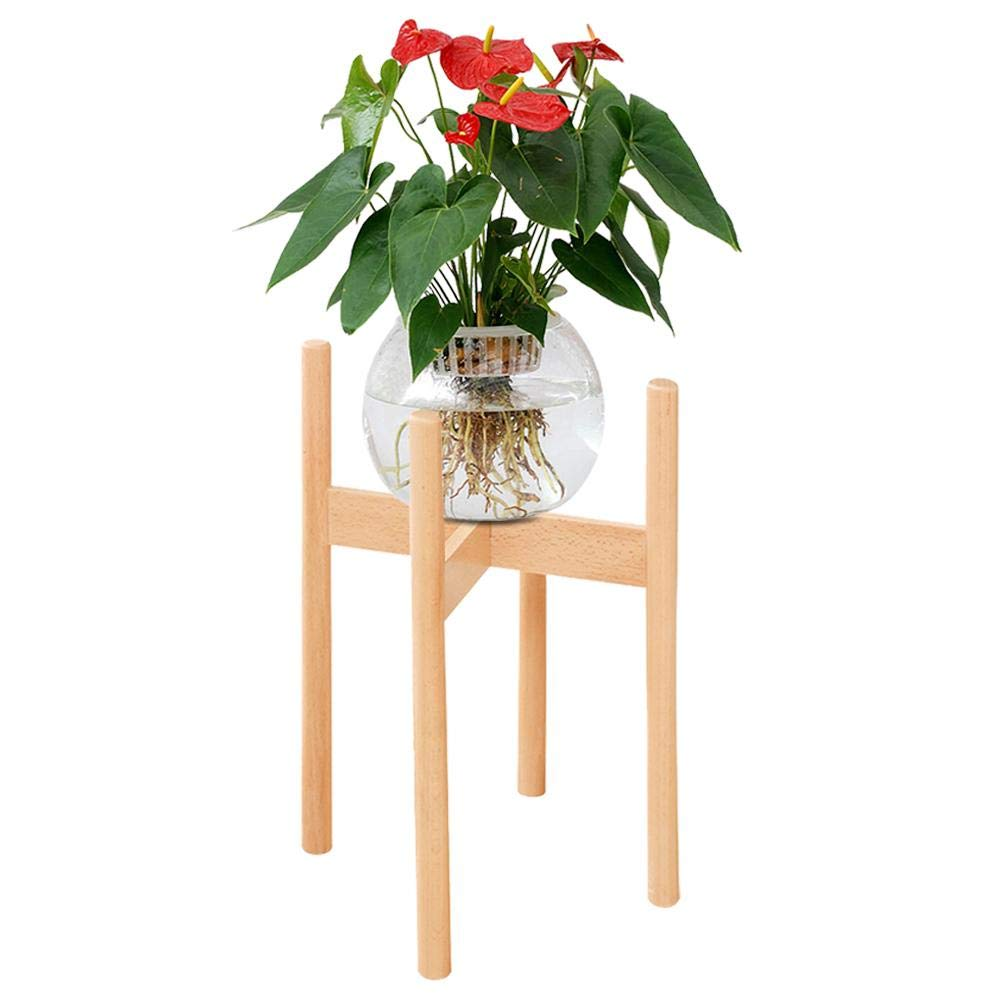 etc Balcony Plant Stand Mini Wood Flower Pot Holder for Indoor and Outdoor Plants Decoration for Bedroom Study Living Room