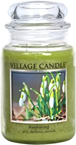 Village Candle Awakening 26 oz Glass Jar Scented Candle, Large