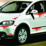 Naladoo Car Accessory,Happy Halloween Car Wall Home Blood Sticker Mural Decor Decal Removable Terror