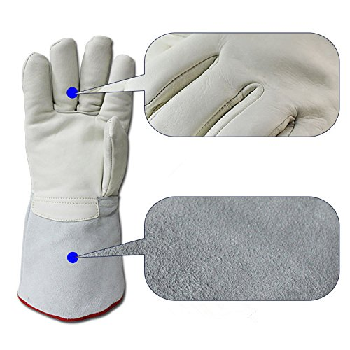 Inf-way Cryogenic Gloves Waterproof LN2 Liquid Nitrogen Protectiove Gloves Cold Storage Frozen Safety Working Gloves (White Large (24.41''/62cm)) by Inf-way (Image #2)