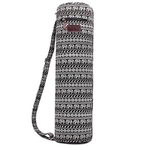 Yoga Mat Bag, Boence Full Zip Exercise Yoga Mat Sling Bag with Sturdy Canvas, Smooth Zippers, Adjustable Strap, Large Functional...  yoga mat zipper bag 51vCTrsezJL