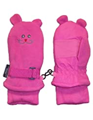 N'Ice Caps Girls Thinsulate and Waterproof Kitty Face Mittens