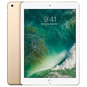Apple iPad with WiFi, 128GB, Gold (2017 Model, MPGW2LL/A)
