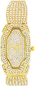 Yes Swiss Women's Gold Dial Stainless Steel Band Watch [YM8011.134]