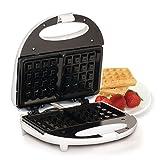 Elite Cuisine EWM-9008K Waffle Maker Iron, Makes 2 Square Waffles, White