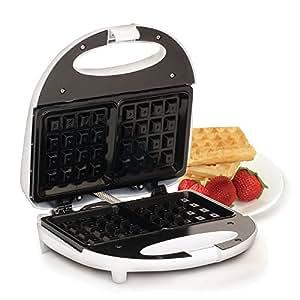 Elite Cuisine EWM-900BK Non-Stick Waffle Maker, White