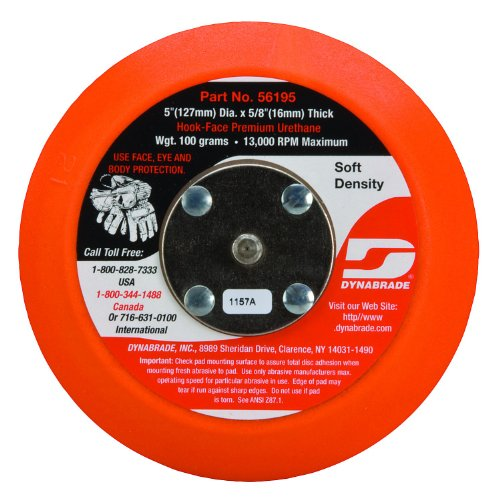 Dynabrade 56195 Non-Vacuum Disc Pad, 5-Inch Diameter