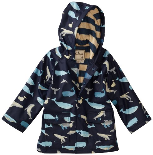 Hatley Little Boys' Children Whales Rain Coat