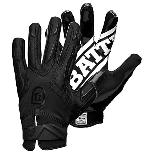 Battle Warm Adult Football Gloves, Black, Small by Battle
