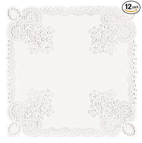 Square Doilies 10.5 Inches (12 Packs of 20 Doilies) by TheCamoHut