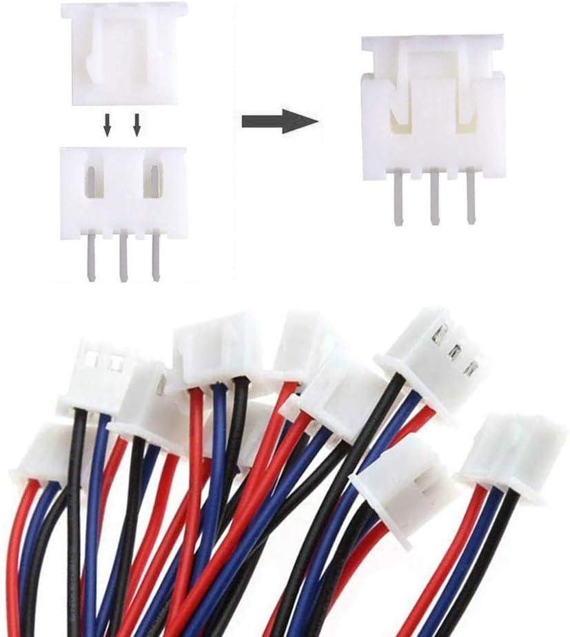 2.54mm Femelle Broches Connecteurs Terminals JST-XH 2//3 // 4//5// 6 Pin M/âle//Femelle Connecteurs YIXISI 460pcs JST Connecteur Kit
