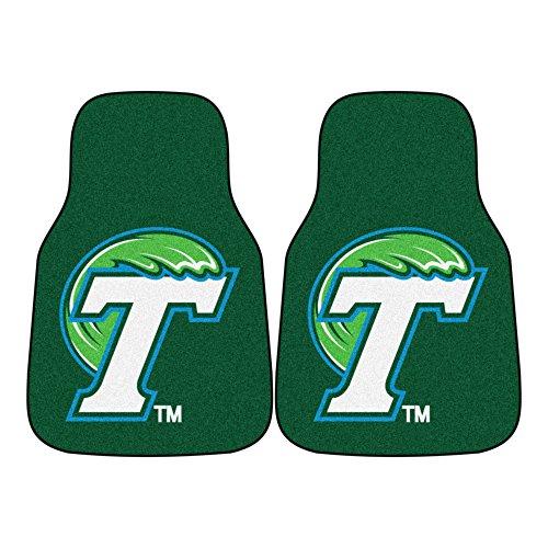 FANMATS NCAA Tulane University Green Wave Nylon Face Carpet Car Mat - Ncaa Tulane Green