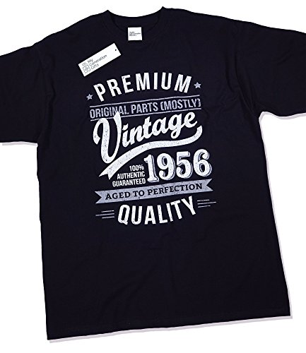 1956 Vintage Year - Aged to Perfection - 60th Birthday Gift / Present T-Shirt Mens