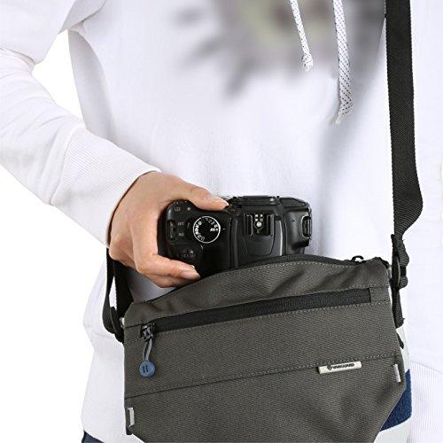 Vanguard SYDNEY II 15GY Borsa per Fotocamera Milc, CSC o Bridge, 27X14X20 cm, Grigio