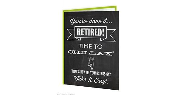 Tarjeta de jubilado Chillax: Amazon.es: Oficina y papelería