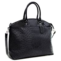 Deals on Dasein Ostrich and Croco Fusion Large Satchel